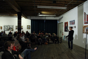 The Sports Basement is a surprising but super cool venue for spoken word and literary events.