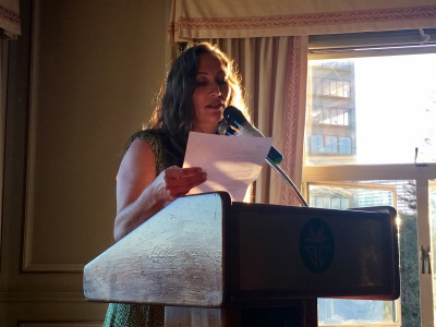 Hollie Hardy, author and poet reads poetry for Bay Area Generations #46 at The Bellevue Club, June 26, 2016